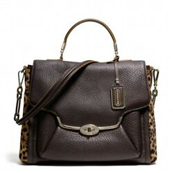 Coach Madison Mixed Haircalf Sadie Flap Satchel Only One At Ebay