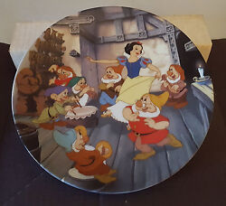 Bradford Exchange Snow White And The Seven Dwarfs Collectors Plate Set Of 12 Coa
