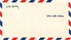 Superb Fleet Admiral William F Halsey Signed Vintage Never Used Air Mail Cover