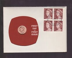 1967 One Cent Coin And Stamp Set Australia First Day Cover First Issue Set J-53
