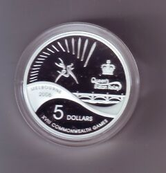 2006 5 Silver Proof Coin Melbourne Commonwealth Game Queen's Baton Relay Sport