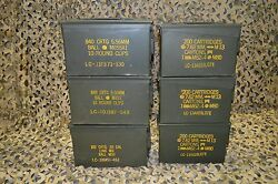( 6 Pack ) COMBO 50 Cal / 308 Cal AMMO CAN VERY GOOD CONDITION * FREE SHIPPING *