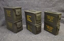 ( 6 Pack ) Combo 50 Cal/308 Cal/Fat 50 AMMO CAN VERY GOOD CONDITION - FREE SHIP.