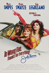 To Wong Foo Thanks For Everything Original Movie Poster Double Sided 27x40