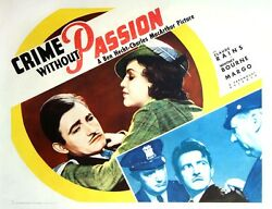 Crime Without Passion 1934 Half Sheet Poster Style A / Ft. Rains, Margo