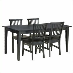 Home Styles Arts And Crafts 5 Piece Dining Set In Ebony