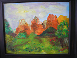 Original Oil Painting On Canvas - Zion