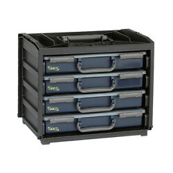 Equipped Raaco Handy Box With 390 Assorted Clamps Double Ear Mini Hose Clips
