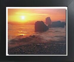 Sunset At Ecola State Park Oregon Landscape Scenery Nature Wall Framed Picture