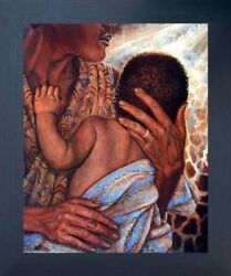 Mother With Child African American Fine Espresso Framed Native American Picture