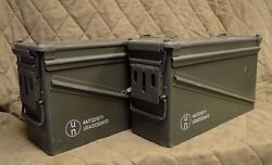 2 Pack Military 40mm Ba30 Pa120 Ammo Can Very Good Condition Free Shipping