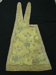 Amazing Antique 17th Century Ecclesiastical Embroidery Stole Vestment Piece