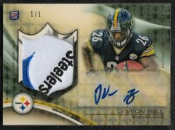 2013 Topps Platinum Superfractor Le'Veon Bell 4 Color LOGO Patch Auto Rc # 11