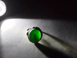 Antique Chinese Silver And A Jade Ring