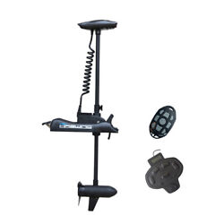 Black Haswing 12v 55lbs 54 Bow Mount Electric Trolling Motor And Foot Control