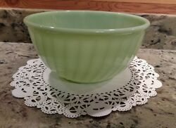 Vintage 4 Fire-king Oven Ware Jadeite 9 Swirl Mixing Bowl