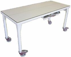 Fi-3199 Mobile X-ray Table With Cassette Tray, Grid Cabinet And Grid, Wheel Locks