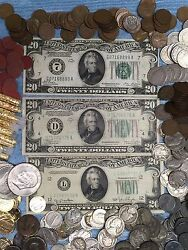 Lot320 192819341950 Green Seal Federal Reserve Notesfrncurrency+more 20