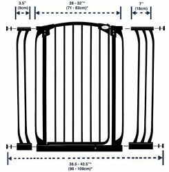 Extra Tall 40 Self Closing Baby Security Safety Gate Steel Panel Extension Set