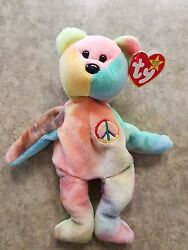 Ty Peace Beanie Baby With Tag Errors
