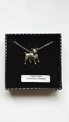 D13 Jack Russell Terrier english pewter 3D Platinum Necklace Handmade 18 INCH