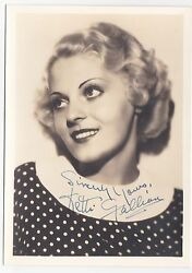 Ketti Gallian Authentic Vintage 1935 Signed Autograph 5x7 Thick Stock Fan Photo