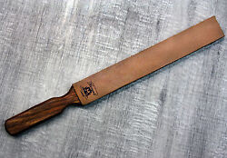 Hunting Leather Barber Strop Straight Razor And Knife Sharpening Shave Strap New