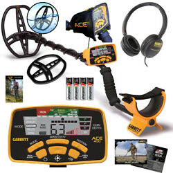 Garrett Ace 400 Metal Detector With 8.5 X 11 Dd Waterproof Coil And 3 Accessories