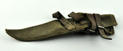Ww2 Military Army Axe Cover Pick Green Canvas Old Sheath