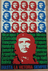 Vintage Hand Painting Poster Che Guevara Cuba Revolution Political Poster