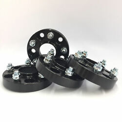 4x Black Hubcentric Wheel Spacers ¦ 5x114.3 ¦ 67.1 Cb ¦ 12x1.5 ¦ 20mm Thick