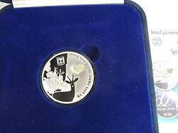 2008 Israel 60th Anniversary Land Of The Deer Medal 28.8g Pure Silver W/hologram