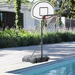 New Adjustable Height Basketball Hoop Stand Kids Game Play Exercise System Blue