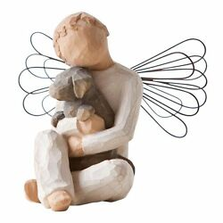 Willow Tree Angel Of Comfort By Susan Lordi Dog Figurine Decor Dog Sculpture New
