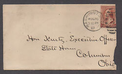 Us 19th Cent Cover 1887 Wash, Dc + Red Cross Label Earliest Known Usage Rare
