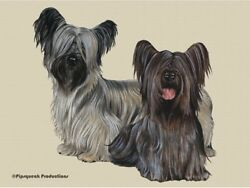 Skye Terrier Large Cutting Board