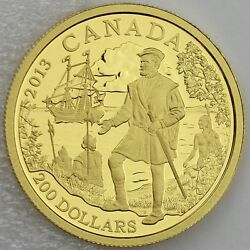 Canada 2013 200 Jacques .9999 Pure Gold 1/2 Oz Proof Great Explorers 2