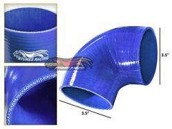 3.5 Silicone Hose/intake/turbo/intercooler Pipe Elbow Coupler Blue For Dodge