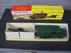 Vintage Dinky Toy 695 7 2 Howitzer And Tractor Gift Set Mint Original Box