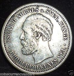 1895 Norway Krone - Extremely Scarce In This Condition