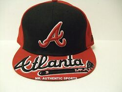 Atlanta Braves Mlb Authentic New Era 59fifty Size 7 1/2 Fitted Cap Hat New Rd/bl