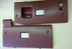 79-83 Datsun 280zx Red Underdash Lower Panels Dashboard Panels Nice Oem Parts