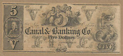 Usa Louisiana New Orleans Canal And Banking Co 18xx 50 Dollars Vf+very Rare