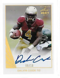 2017 Leaf Ultimate 1990 Dalvin Cook Gold Prismatic Rc Auto 6/10 Vikings Rb
