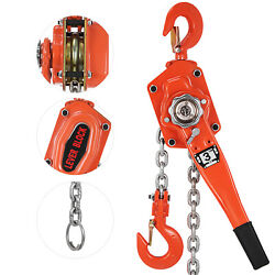 3 Ton Chain Lever Block Hoist Come Along Ratchet Lift 6600lbs 5ft Puller Pulley