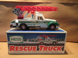 1994 Hess Rescue Truck Gas Station Promo Plastic Toy Holiday