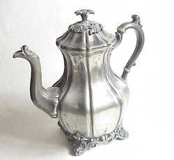 Fancy Antique Reed And Barton 1766 Silver Plate Tea Pot Set Teapot Pitcher Sugar