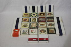 Lot Of 15 Boxes Of Pimpernel Cork Backed Coasters, New Old Stock, All Different