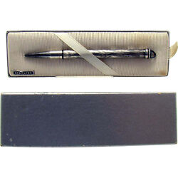 Signed Cross Sterling Retractable Chatelaine Pencil In Box - 1930's