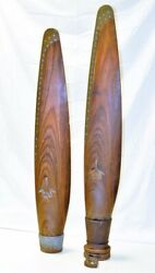 Rare Wwii Era Research And Engineering Corporation Erco Airplane Propeller Blades